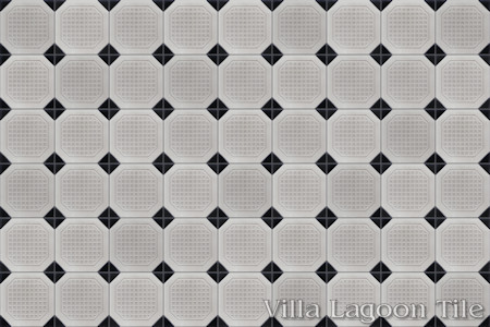 Octagon Waffle Relief, from Villa Lagoon Tile