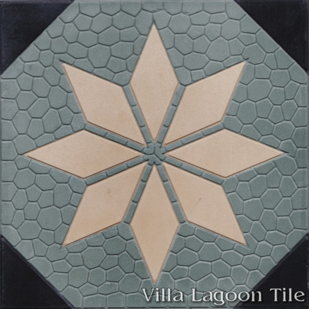 Star Field B Relief, from Villa Lagoon Tile