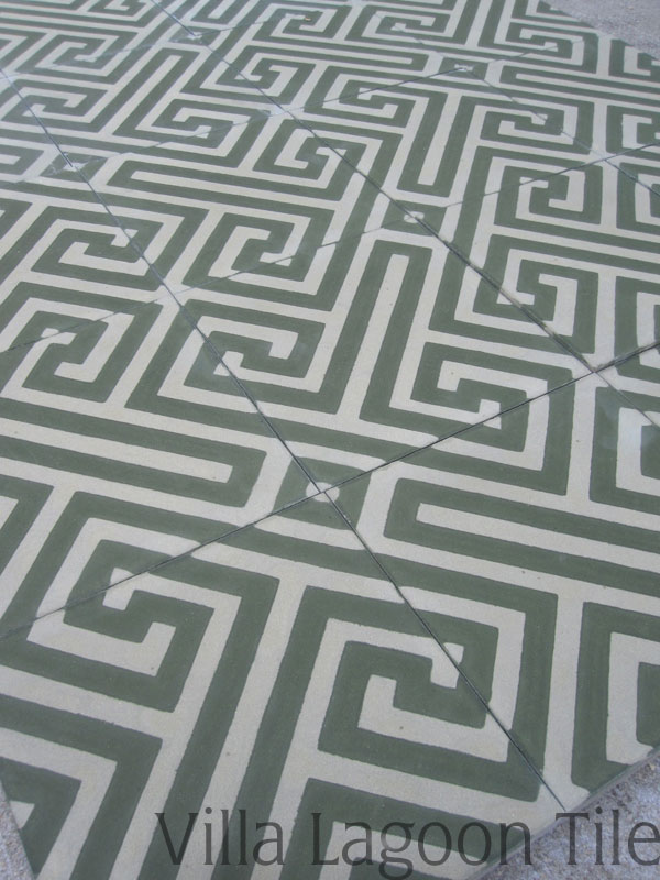 Fretwork tiles in stock cement tile