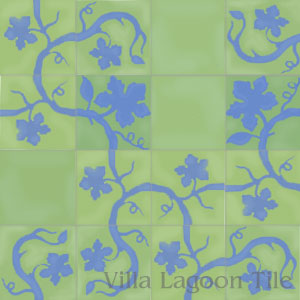 vine design encaustic tiles