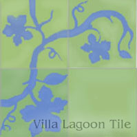 stock cement tiles with vine design