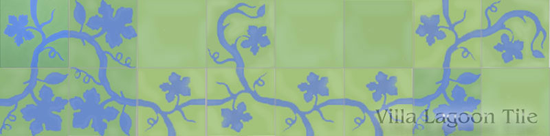 grapevine encaustic cement tile like emery et cie