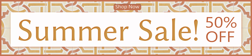 Cement Tile Summer Sale! As much as half off!