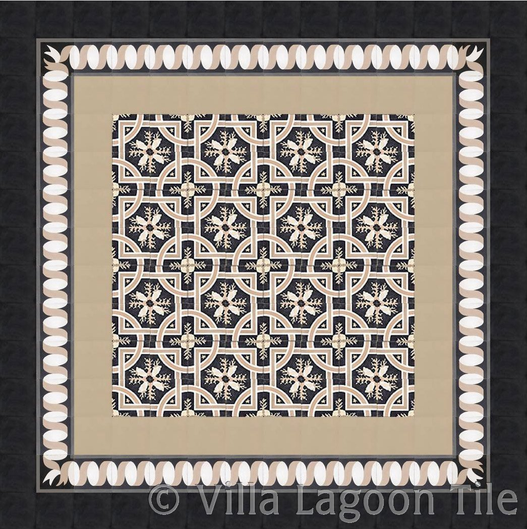 Encaustic cement tile floor design ideas villa lagoon tile click to see large image dailygadgetfo Image collections