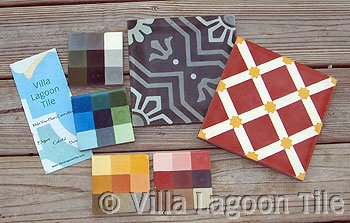 Cement tile floor planning kit