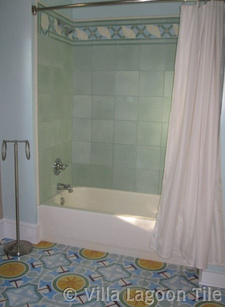 Cement tile shower