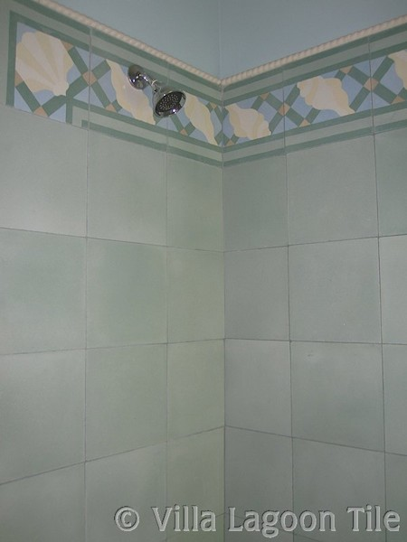 Cement tile bathroom shower photos