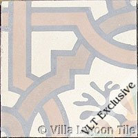 Venetian cement tile in taupe