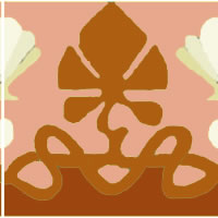 art nouveau border tile in russet