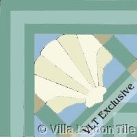 Trellis Sea Shell Tile Border Corner