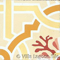 Venetian cement tile in Sunset Colors