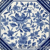 blue and white transfer ware tiles