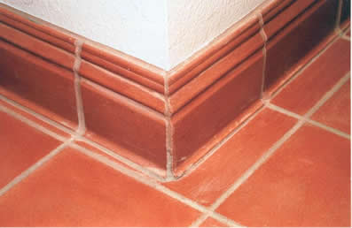 Cove base trim tile