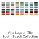 South Beach cement tile color palette.