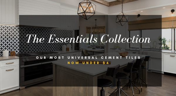 """Essential Collection"" Cement Tile, from Villa Lagoon Tile"