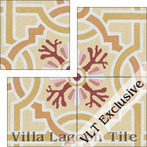 Italian Trellis Sunset Cement Tile