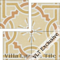 Italian Trellis Sunset B Cement Tile