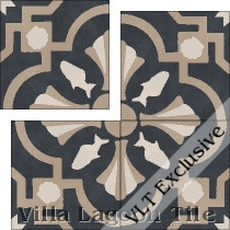 Savona Midnight cement tile.