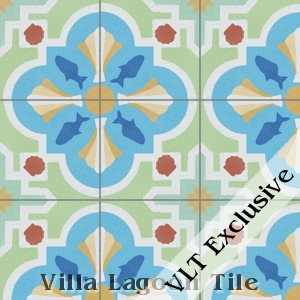 """Savona"" Pattern Cement Tile, from Villa Lagoon Tile"