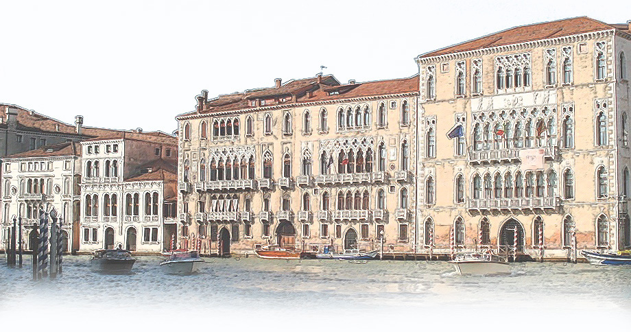 A stylized image of the famous Venetian waterways.