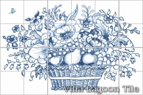 Delft-Style Basket Mural