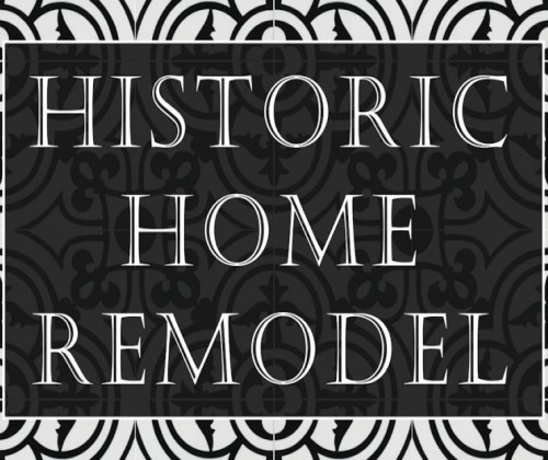 Historic home remodel with cement tile.