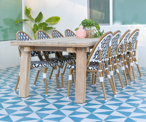 """Man Overboard"" cement tile outdoor patio, from Villa Lagoon Tile."