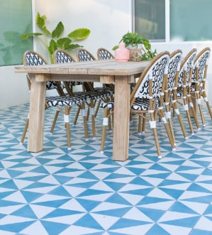 Cement Tile Patio 'How-To' blog, with Villa Lagoon Tile.