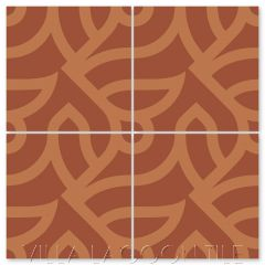 """All Smiles Henna"" Modern Cement Tile by Neyland Design, from Villa Lagoon Tile."