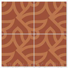"""All Smiles Henna"" Modern Cement Tile by Neyland Design, from Villa Lagoon Tile."