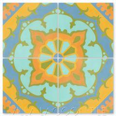 """Amalena Sunset"" Cuban Cement Tile, by Villa Lagoon Tile."