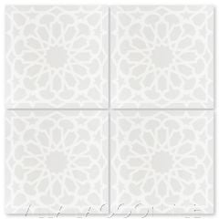 """Andalusia Petite Fog"" Moroccan Cement Tile, from Villa Lagoon Tile."