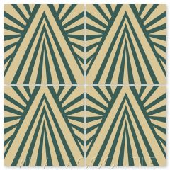"""""""Angola Winds Cairo"""" Modern Geometric Cement Tile by Neyland Design, from Villa Lagoon Tile."""