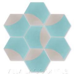 """Archie Hex Primero"" Modern Geometric Cement Tile, from Villa Lagoon Tile."