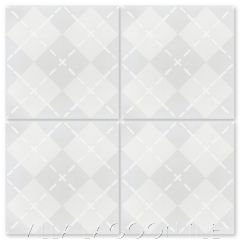 """""""Argyle Fog"""" Fabric-Style Cement Tile, by Villa Lagoon Tile."""