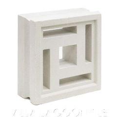 """Barbados"" Natural White Geometric Breeze Blocks, by Villa Lagoon Tile."