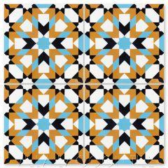 """Berkane Primero"" Moroccan Cement Tile, from Villa Lagoon Tile."