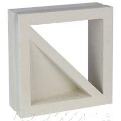 "Large ""Bermuda"" Natural White Geometric Breeze Blocks, from Villa Lagoon Tile."