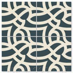 """Bocilla Aegean"" Modern Cement Tile by Neyland Design, from Villa Lagoon Tile."