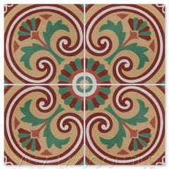 """Bolero Autentico"" Cuban Cement Tile, from Villa Lagoon Tile."