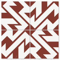 """""""Boxing Days Bold Brick and White"""" Modern Geometric Cement Tile by Neyland Design, from Villa Lagoon Tile."""