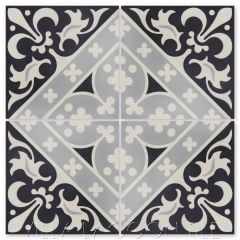 """Canterbury Three"" Victorian Cement Tile, from Villa Lagoon Tile."