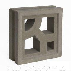 """Capri"" Natural Gray Geometric Breeze Blocks, by Villa Lagoon Tile."
