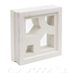 """Capri"" Natural White Geometric Breeze Blocks, by Villa Lagoon Tile."