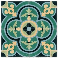 """Caprice Grove"" Bold Spanish Cement Tile, by Villa Lagoon Tile."