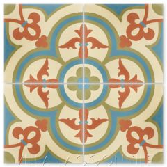 """Caprice June"" Bold Spanish Cement Tile, by Villa Lagoon Tile."