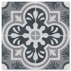 """Carmen A Hermosa"" Cuban Floral Cement Tile, From Villa Lagoon Tile."