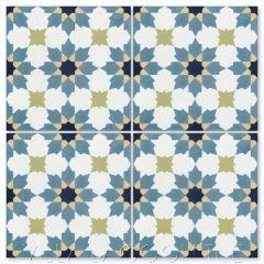 """""""Casablanca Navy"""" Moroccan Cement Tile, from Villa Lagoon Tile."""