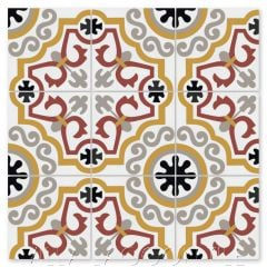 """Castle B Beacon Hill & Maple Sugar"" Traditional French Cement Tile, from Villa Lagoon Tile."