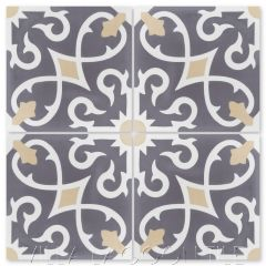 """Charlotte Excalibur"" Spanish Cement Tile, from Villa Lagoon Tile."